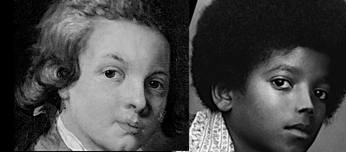 a comparison of the similarities and differences between wolfgang mozart and michael jackson